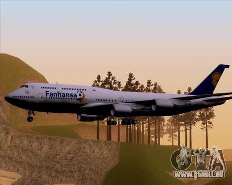 Boeing 747-830 Lufthansa - Fanhansa pour GTA San Andreas vue de droite