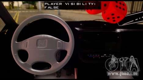Honda Civic 1.4 Hatchback pour GTA San Andreas sur la vue arrière gauche