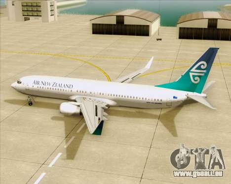 Boeing 737-800 Air New Zealand pour GTA San Andreas salon