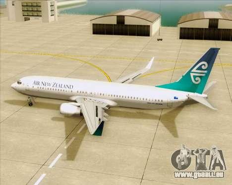 Boeing 737-800 Air New Zealand pour GTA San Andreas salon