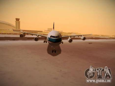 Airbus A340-300 Cathay Pacific pour GTA San Andreas vue de dessus