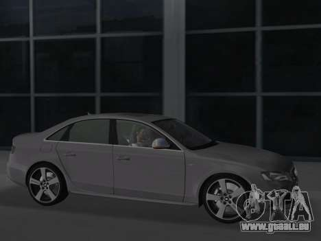 Audi S4 (B8) 2010 - Metallischen pour GTA Vice City vue arrière