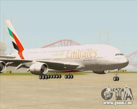 Airbus A380-841 Emirates pour GTA San Andreas laissé vue