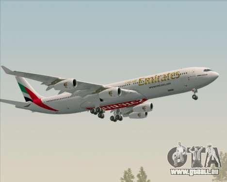 Airbus A340-313 Emirates für GTA San Andreas Seitenansicht