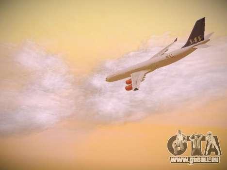 Airbus A340-300 Scandinavian Airlines pour GTA San Andreas moteur