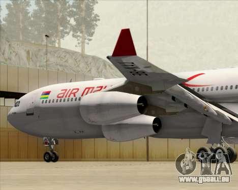 Airbus A340-312 Air Mauritius pour GTA San Andreas moteur