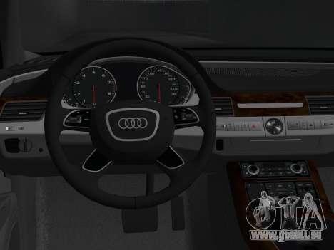 Audi A8 2010 W12 Rim1 pour GTA Vice City vue arrière