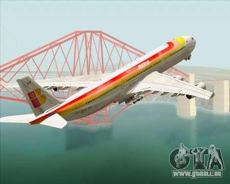 Airbus A340 -313 Iberia für GTA San Andreas Räder