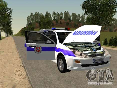 Ford Focus Police de la région de Nijni Novgorod pour GTA San Andreas vue intérieure