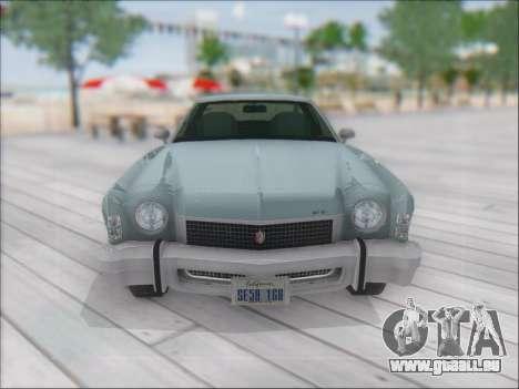 Chevrolet Monte Carlo 1973 für GTA San Andreas zurück linke Ansicht