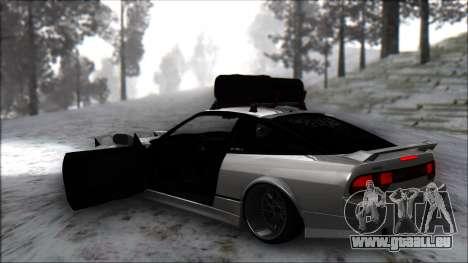 Nissan 240SX pour GTA San Andreas sur la vue arrière gauche