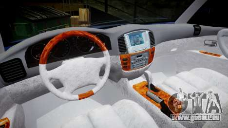 Toyota Land Cruiser pour GTA 4 Vue arrière