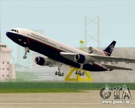 Lockheed L-1011 TriStar British Airways pour GTA San Andreas vue de dessous
