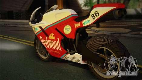 Bati RR 801 Redwood pour GTA San Andreas laissé vue