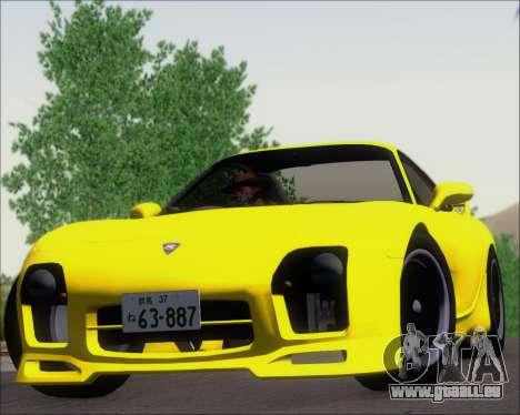Mazda RX-7 FD3S A-Spec pour GTA San Andreas vue arrière