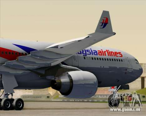 Airbus A330-323 Malaysia Airlines pour GTA San Andreas salon