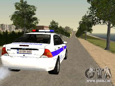Ford Focus Police de la région de Nijni Novgorod pour GTA San Andreas vue de droite