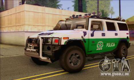 Hummer H2 Colombian Police für GTA San Andreas