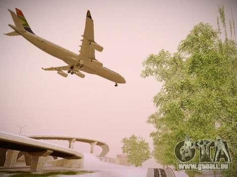 Airbus A340-300 South African Airways für GTA San Andreas Rückansicht