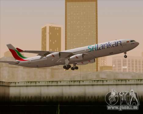 Airbus A340-313 SriLankan Airlines pour GTA San Andreas moteur