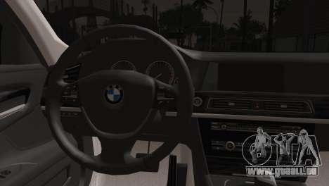 BMW 760 pour GTA San Andreas sur la vue arrière gauche