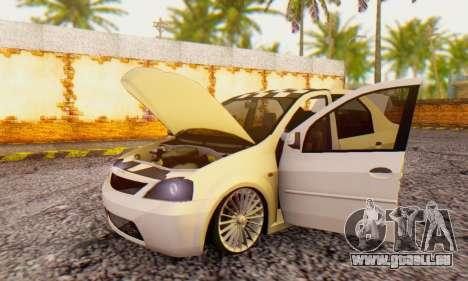 Dacia Logan ZYCU für GTA San Andreas Rückansicht