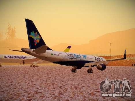 Embraer E190 Azul Tudo Azul pour GTA San Andreas vue de droite