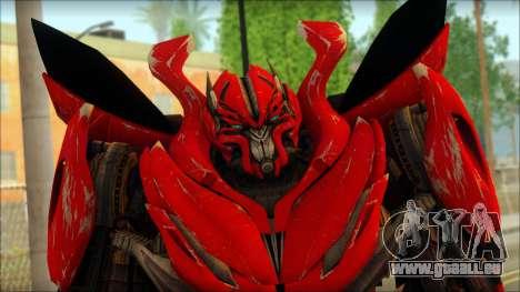 Dino Mirage (transformers Dark of the moon) v2 pour GTA San Andreas troisième écran