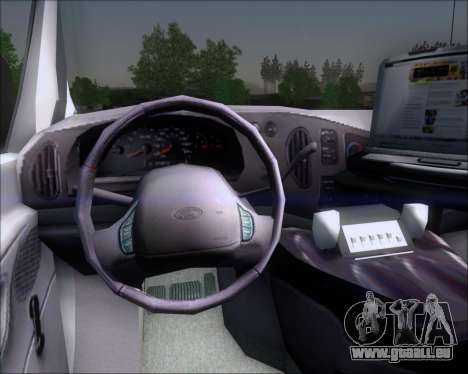 Ford E-150 Labocar pour GTA San Andreas vue intérieure