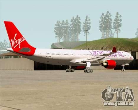 Airbus A330-300 Virgin Atlantic Airways für GTA San Andreas Rückansicht