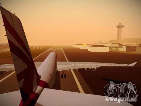 Airbus A340-600 Qatar Airways pour GTA San Andreas moteur