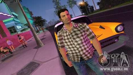 Kockas polo - barna T-Shirt für GTA Vice City zweiten Screenshot