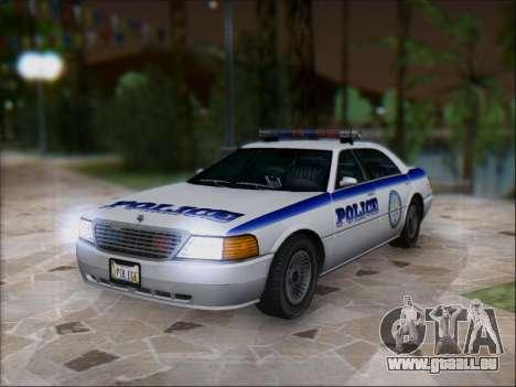 Admiral Police pour GTA San Andreas sur la vue arrière gauche