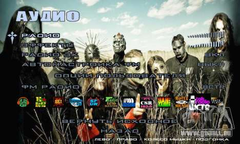 Metal Menu - Slipknot für GTA San Andreas sechsten Screenshot