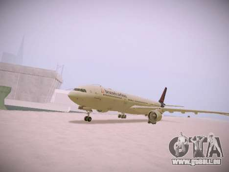 Airbus A330-300 Brussels Airlines pour GTA San Andreas laissé vue