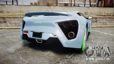 Zenvo ST1 2010 für GTA 4 hinten links Ansicht
