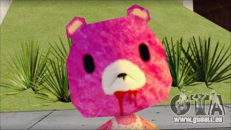Gloomy the Foxy Bear Ped Skin pour GTA San Andreas troisième écran