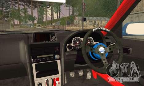 Nissan Skyline GTR34 für GTA San Andreas zurück linke Ansicht