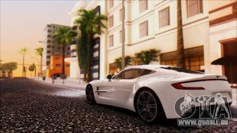 Aston Martin One-77 pour GTA San Andreas vue arrière