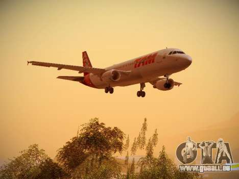 Airbus A320-214 TAM Airlines für GTA San Andreas obere Ansicht
