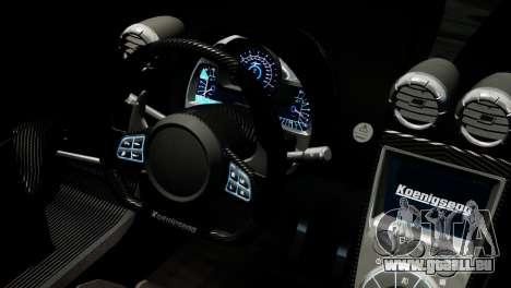 Koenigsegg Agera R 2013 PJ4 für GTA 4 rechte Ansicht