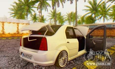 Dacia Logan ZYCU pour GTA San Andreas vue de droite