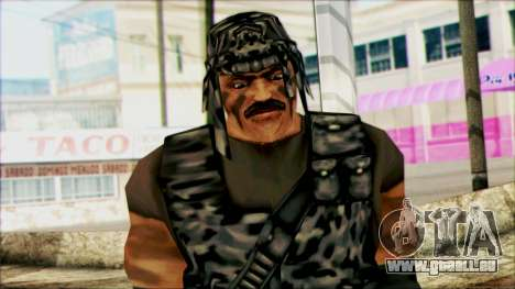 Manhunt Ped 22 pour GTA San Andreas troisième écran