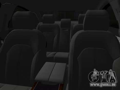 Audi A8 2010 W12 Rim6 pour une vue GTA Vice City de l'intérieur