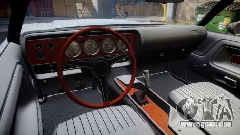 Dodge Challenger 1971 v2.2 PJ4 pour GTA 4 Vue arrière
