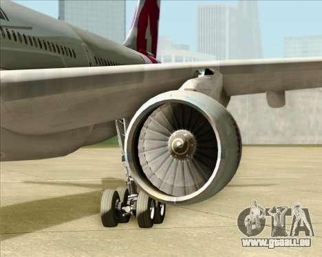 Airbus A330-300 Qatar Airways pour GTA San Andreas vue intérieure