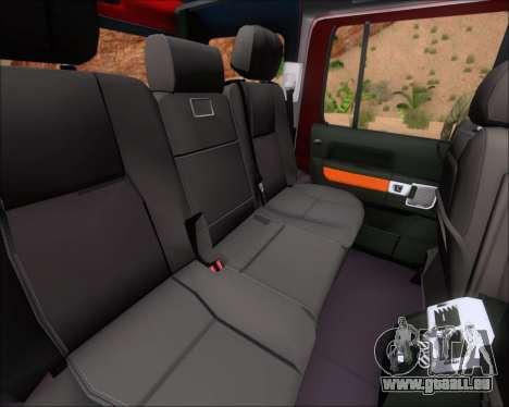 Land Rover Discovery 4 pour GTA San Andreas salon