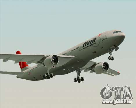 Airbus A330-300 Northwest Airlines pour GTA San Andreas laissé vue
