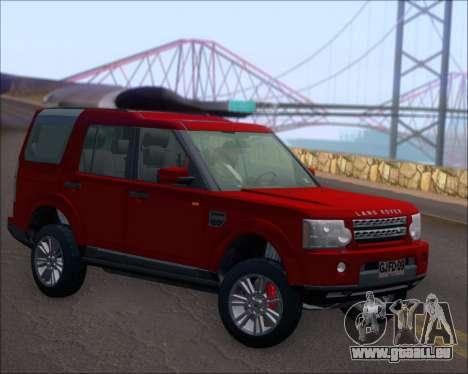 Land Rover Discovery 4 pour GTA San Andreas vue de droite