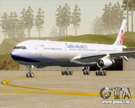 Airbus A340-313 China Airlines für GTA San Andreas linke Ansicht